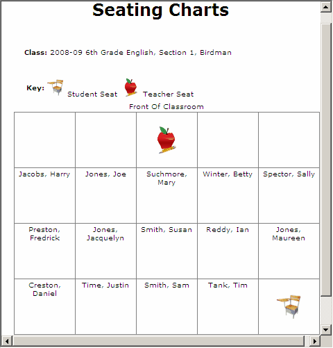 Doc612474 Classroom Seating Chart Template Free Free – Free Printable Seating Chart